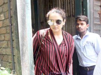 Huma Qureshi snapped at Pali Village Cafe in Bandra
