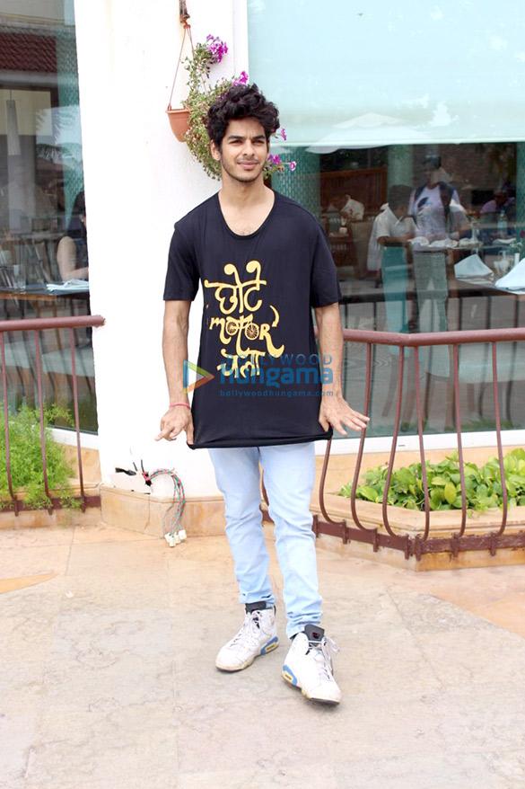 Ishaan Khatter and Malavika Mohanan snapped at media interactions at Sun N Sand hotel in Juhu