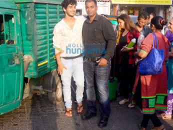 Ishaan Khatter snapped promoting Beyond the Clouds in a local train