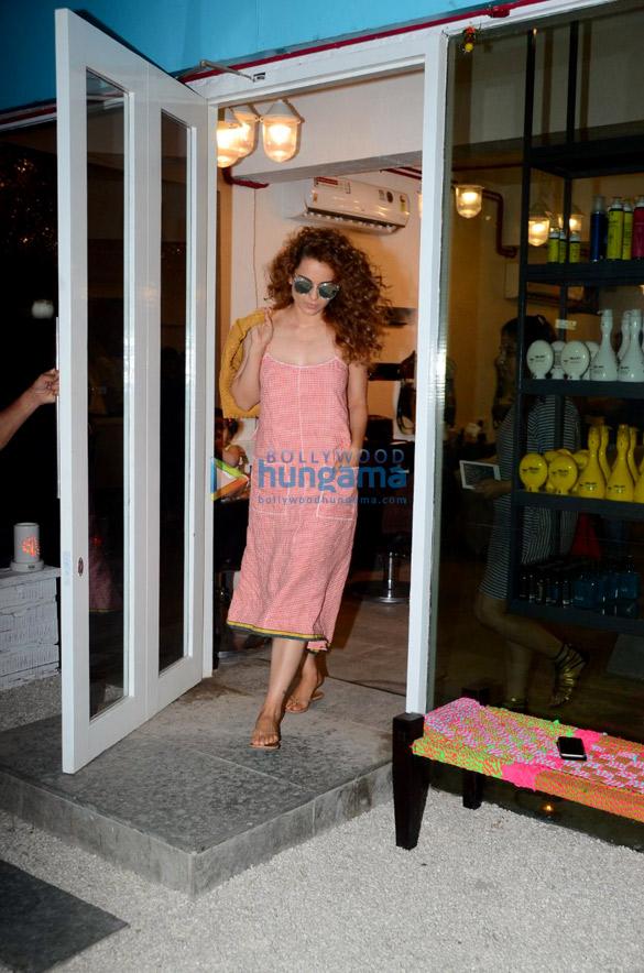 Kangana Ranaut snapped outside BBlunt salon in Bandra