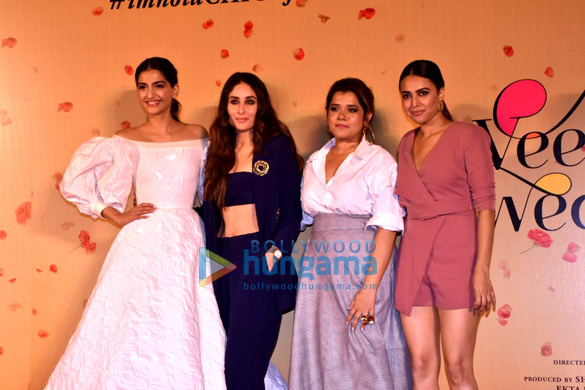 Kareena Kapoor Khan, Sonam Kapoor, Swara Bhaskar and Shikha Talsania grace the trailer launch of Veere Di Wedding