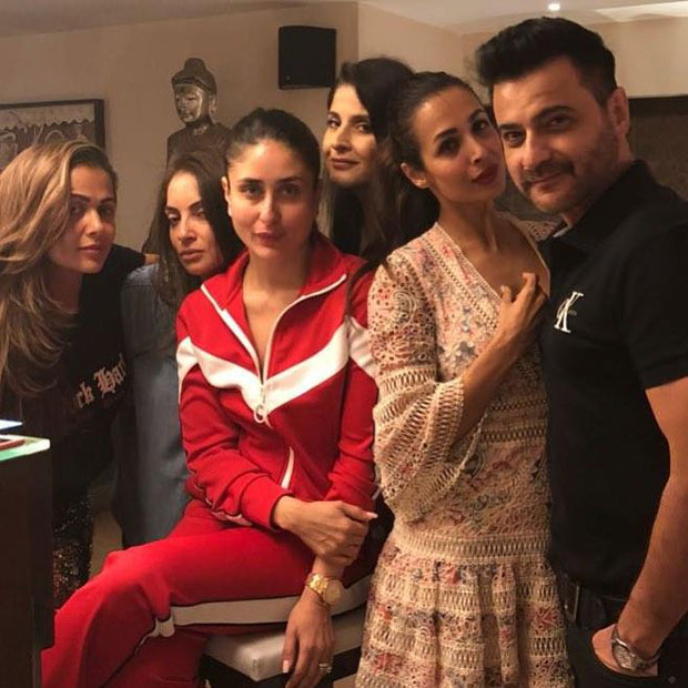 Kareena Kapoor Khan looks as happy as the Easter bunny with Malaika Arora, Amrita Arora and Karan Johar