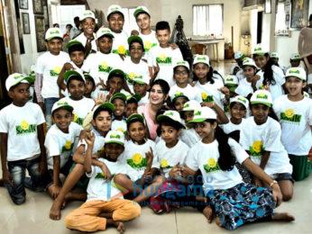 Karishma Sharma snapped visiting Smile Foundation