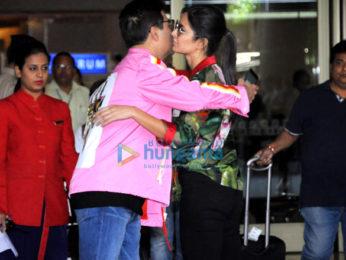 Kartik Aaryan and Saiyami Kher snapped at the airport