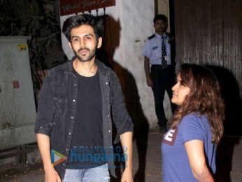 Kartik Aaryan snapped at Sanjay Leela Bhansali's residence in Juhu