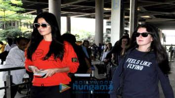 Katrina Kaif and sister Isabel Kaif snapped at the airport returning from London