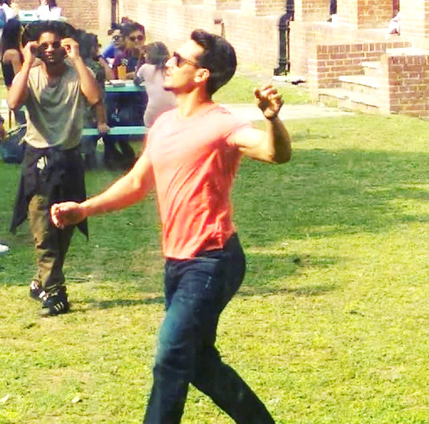 LEAKED VIDEO: Tiger Shroff shoots a song for Student of the Year 2; does an insane slip on the sets in Dehradun