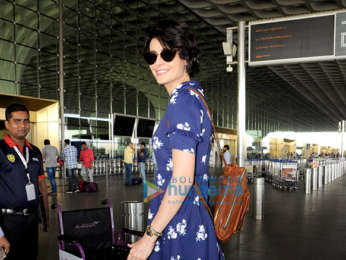 Mandana Karimi snapped at the airport