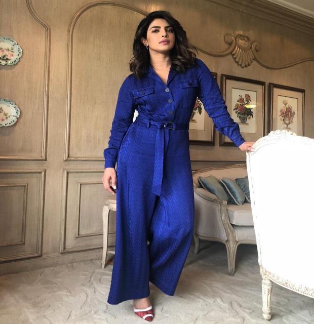 Priyanka Chopra goes bold in blue