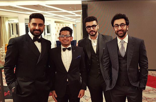 Ranbir Kapoor, Abhishek Bachchan and Arjun Kapoor play charity football; break into 'Kala Chashma' dance in Singapore