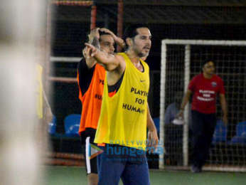 Ranbir Kapoor, Abhishek Bachchan, Ishaan Khatter and others snpped during a soccer match