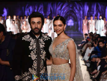 Ranbir Kapoor and Deepika Padukone walk the ramp for Mijwan