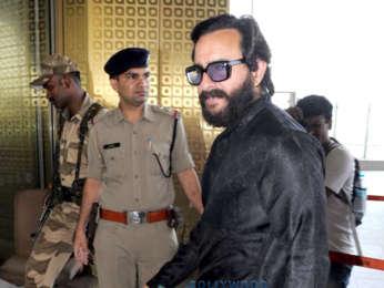 Saif Ali Khan, Tabu and Sonali Bendre snapped at the airport departing for Jodhpur