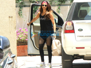 Sidharth Malhotra, Daisy Shah and Aditya Roy Kapur snapped outside the gym