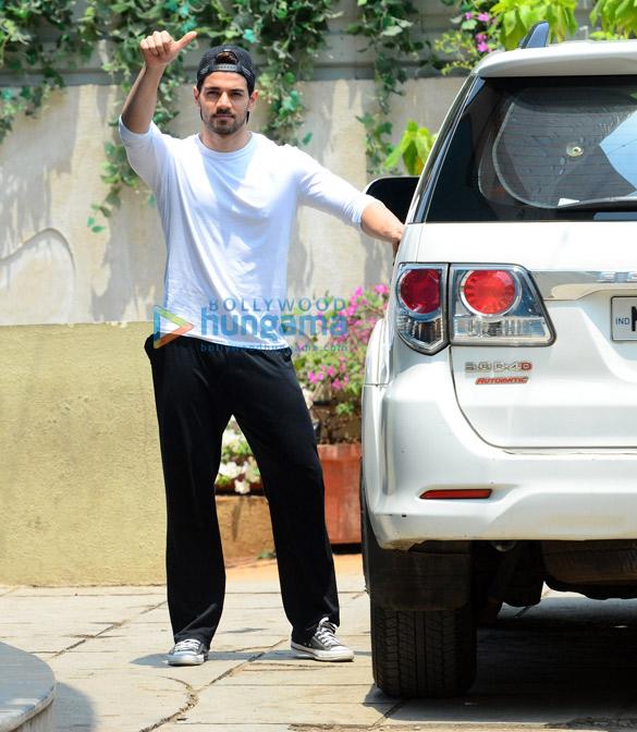 Sooraj Pancholi snapped outside gym