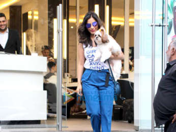 Sophie Choudry spotted at Dessange salon in Bandra