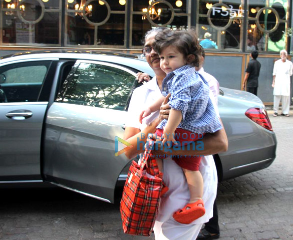Taimur Ali Khan spotted at play school in Bandra