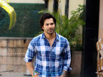Varun Dhawan and Banita Sandhu at Novotel, Juhu for October interviews