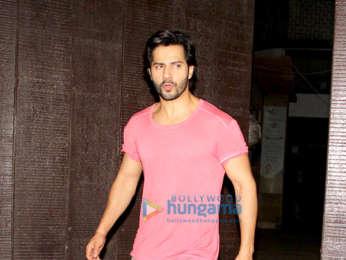 Varun Dhawan snapped at the gym