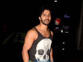 Varun Dhawan snapped outside the gym in Khar