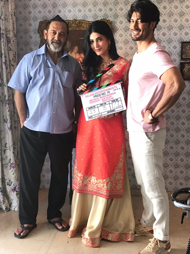 Vidyut Jammwal and Shruti Haasan kick-start shooting for Mahesh Manjrekar's next