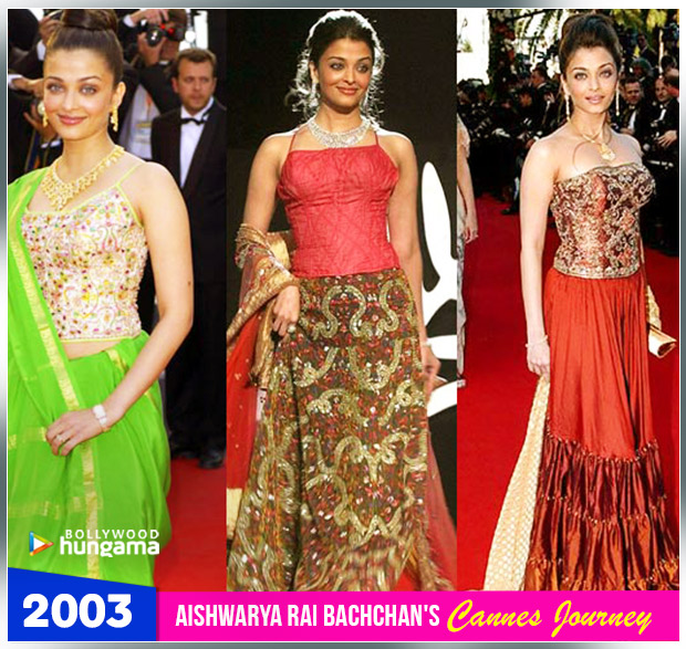 Aishwarya Rai Bachchan Cannes journey 2003