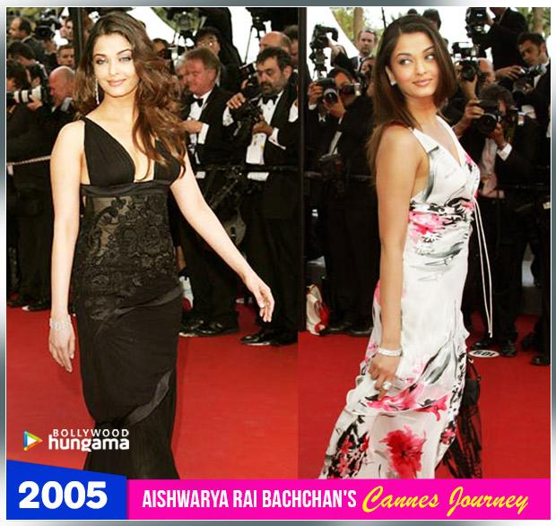 Aishwarya Rai Bachchan Cannes journey 2005