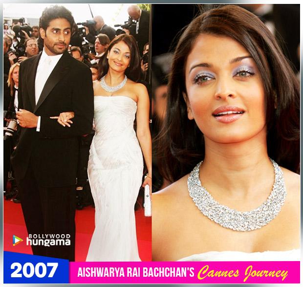 Aishwarya Rai Bachchan Cannes journey 2007
