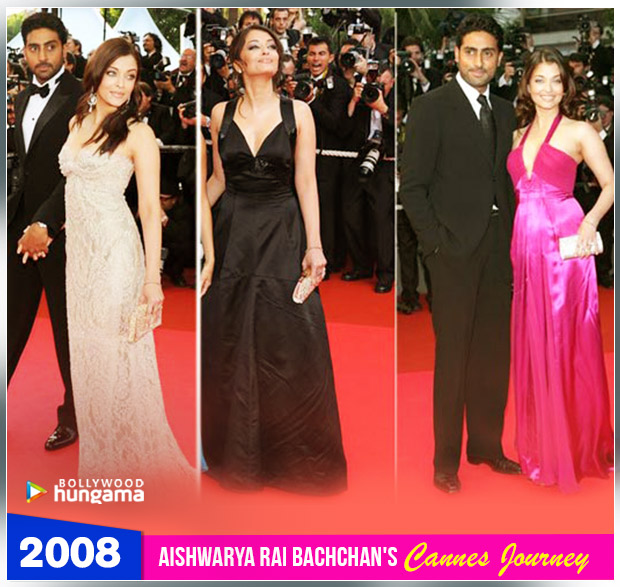 Aishwarya Rai Bachchan Cannes journey 2008