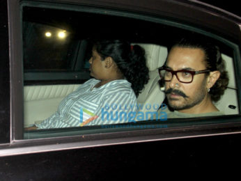 Aamir Khan spotted at his mother's house in Bandra