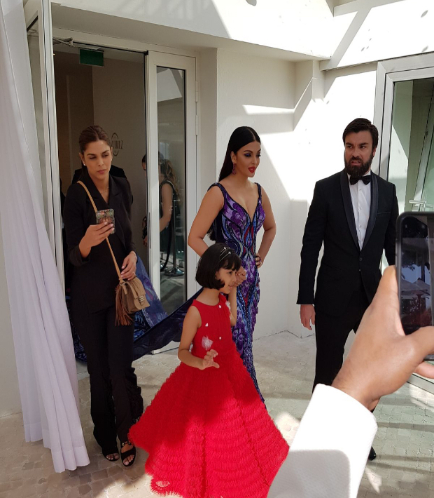 Aishwarya with Aaradhya at Cannes 2018