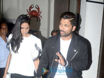 Allu Arjun with wife spotted at Bastian in Bandra