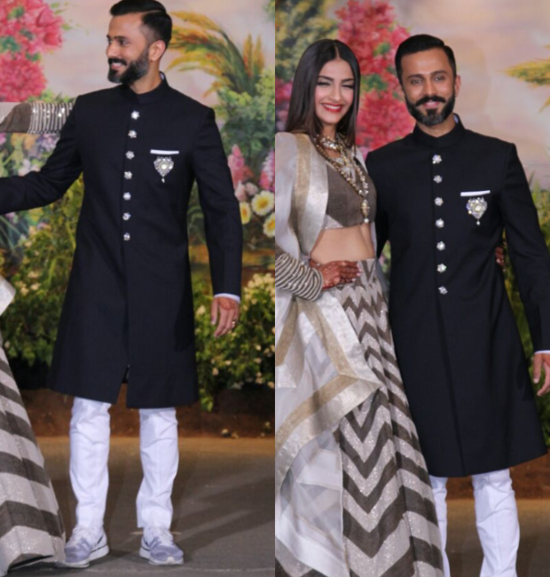 Anand Ahuja at his wedding reception with Sonam Kapoor