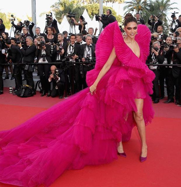Deepika Padukone in Ashi Studio gown at Cannes 2018