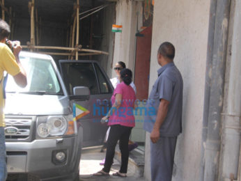 Huma Qureshi spotted at a clinic