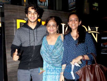 Ishaan Khatter snapped with his mother Neelima Azeem at PVR Icon