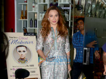 Iulia Vantur spotted at Juice salon in Bandra