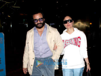 Kareena Kapoor Khan, Saif Ali Khan, Karisma Kapoor and Anushka Sharma snapped at the airport