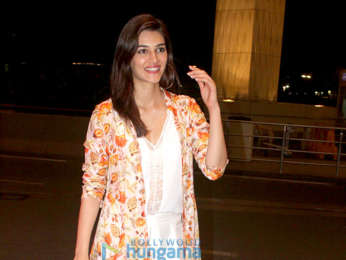 Kriti Sanon and Ameet M Gaurr snapped at the airport