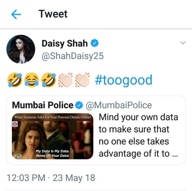 'Our business is our business' dialogue is a rage; Move over Priya Prakash Varrier as Daisy Shah is the new viral girl of the season!