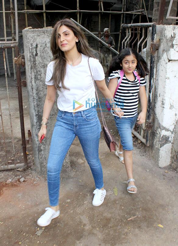 Riddhima Kapoor Sahani & Manasi Joshi Roy spotted at Kromakay in Juhu