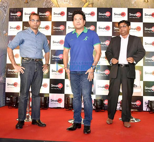 Sachin Tendulkar launches Smaaash in Navi Mumbai