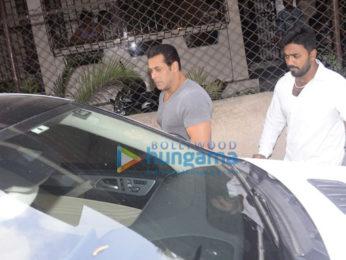 Salman Khan snapped outside a recording studio in Bandra