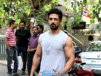 Saqib Saleem spotted at the gym