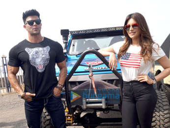 Shama Sikandar and Sahil Khan flag off the 'Mud Skull 4x4' off road rally in Mumbai
