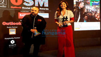 Shilpa Shetty, Athiya Shetty, Priya Varrier snapped at PCJ Outlook Social Media Awards 2018 at Hyatt Regency in New Delhi