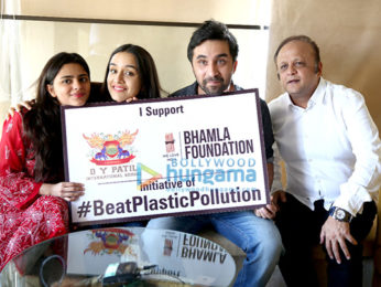 Shraddha and Siddhant Kapoor attend the anti plastic campaign for Buamla Foundation