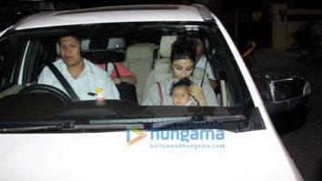 Soha Ali Khan and her daughter snapped at Saif Ali Khan's house