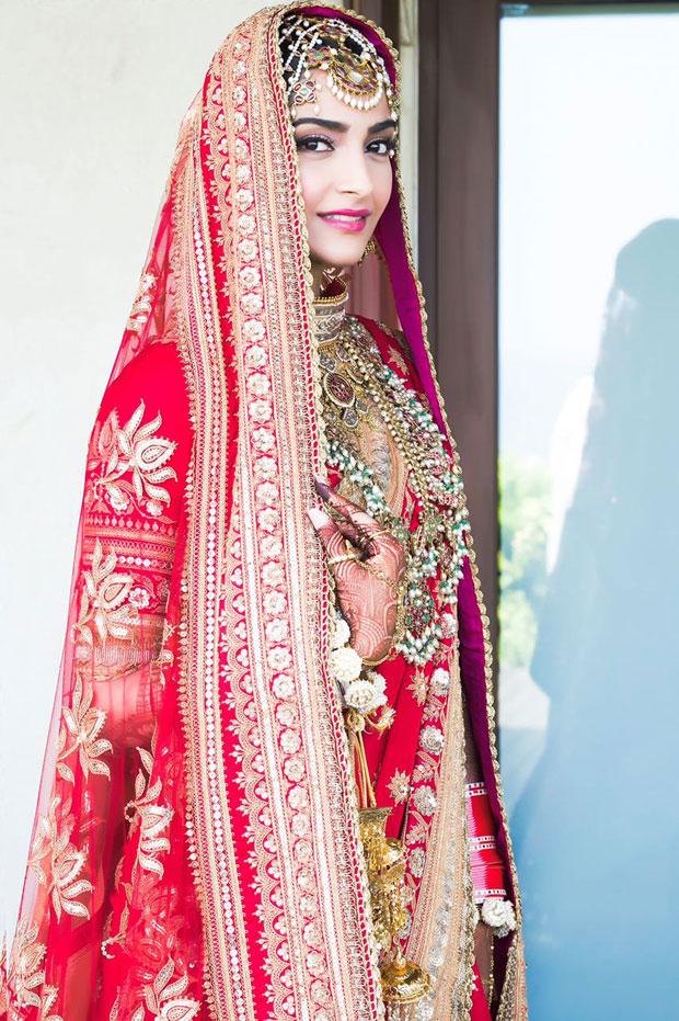 Sonam Kapoor looks exquisite as a Punjabi bride