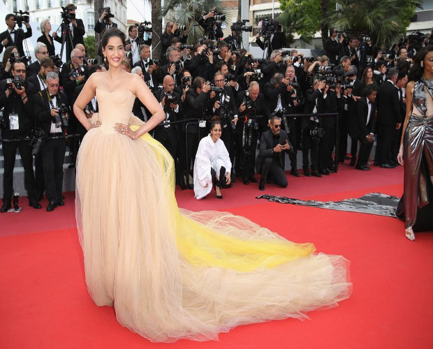Sonam Kapoor on the red carpet at Cannes 2018